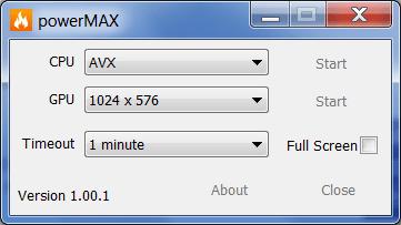 powerMAX Настройки