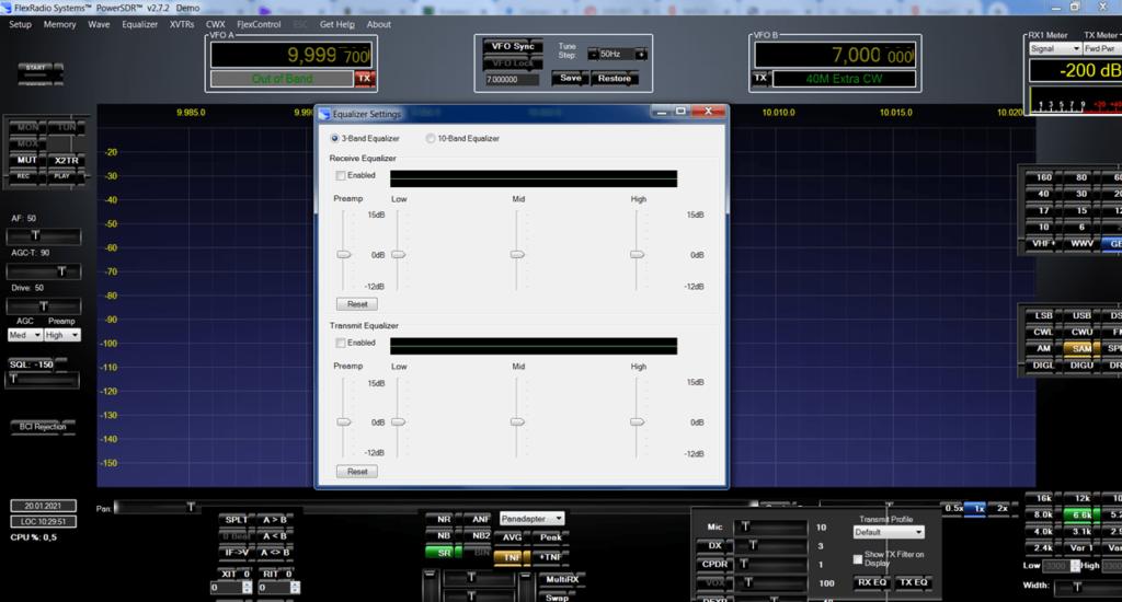 PowerSDR Эквалайзер