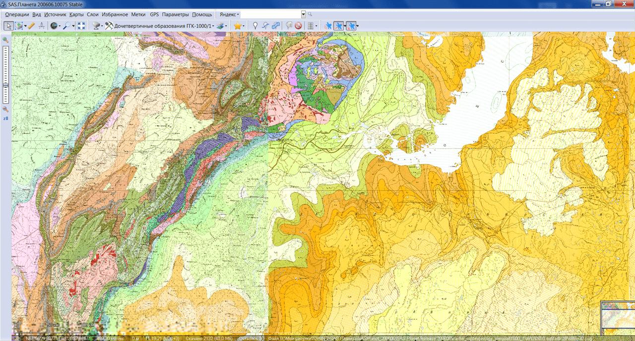SAS Планета Геологическая карта