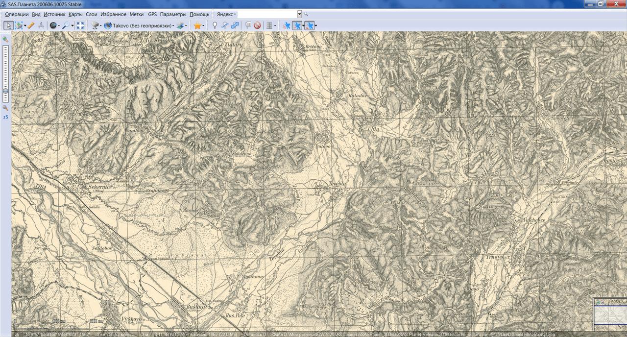 SAS Планета Историческая карта
