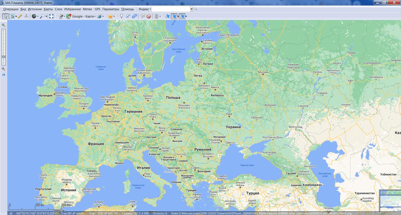 SAS Планета Карта
