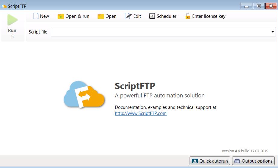 ScriptFTP Главное окно