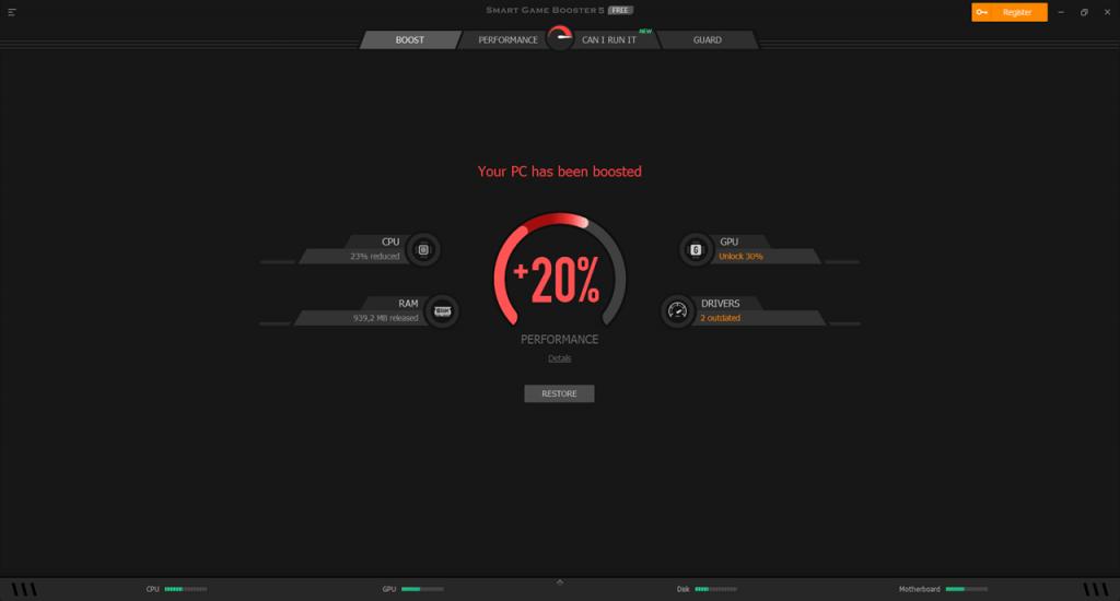 Smart Game Booster Ускорение