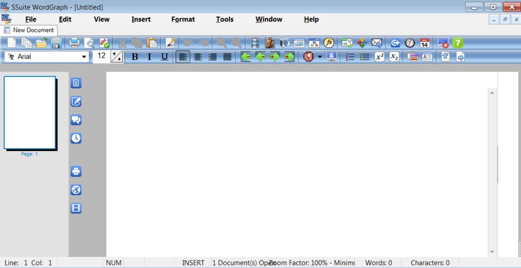 SSuite Office WordGraph Главное окно