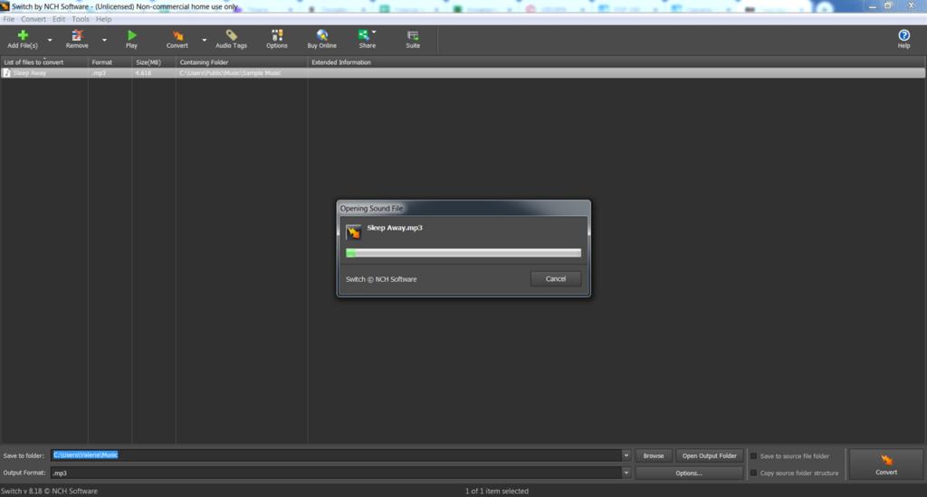 Switch Sound File Converter Файлы