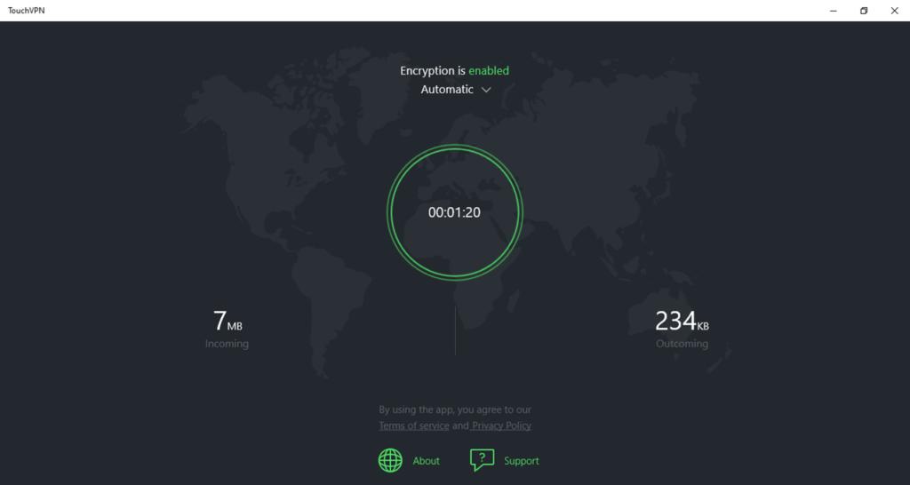 Touch VPN Подключение
