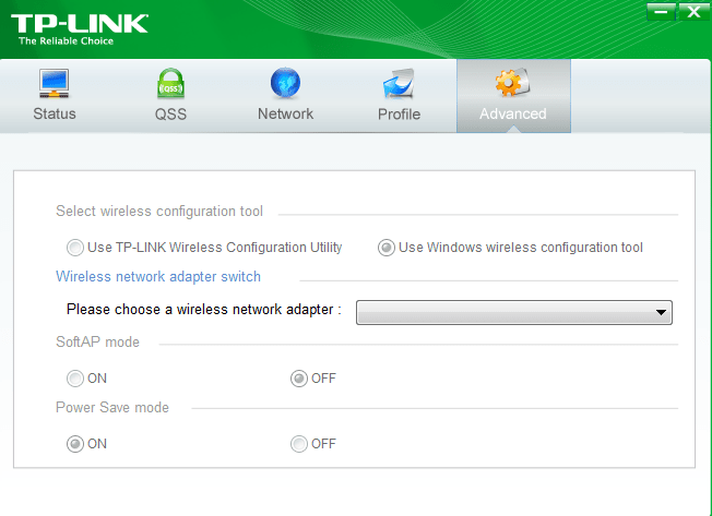 TP-LINK Wireless Configuration Utility Начало работы