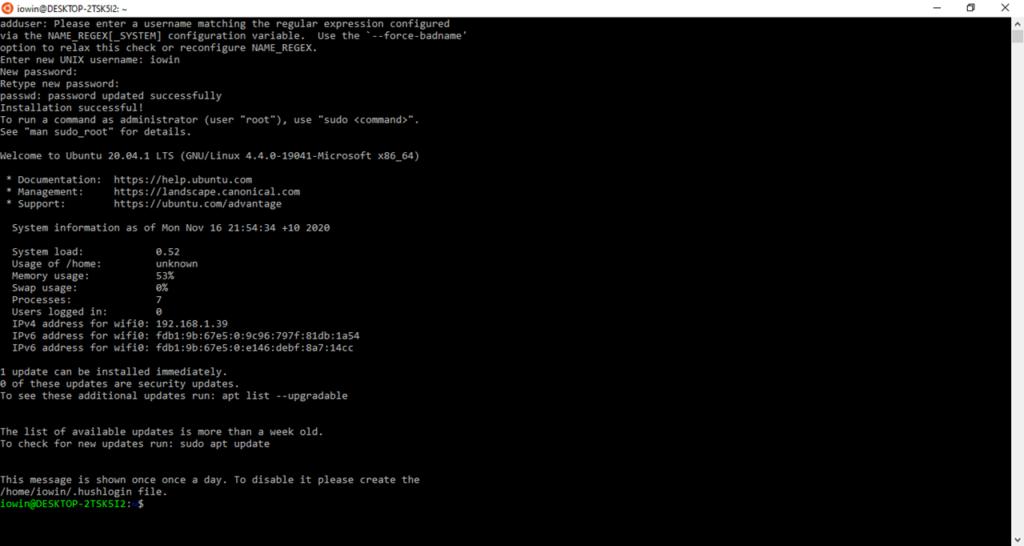 Ubuntu 20.04 LTS Терминал