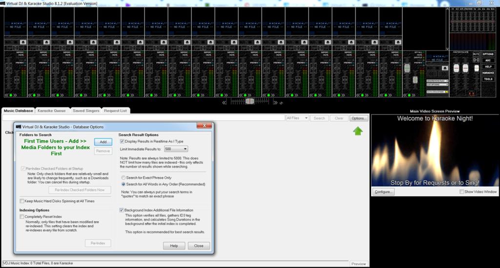Virtual DJ Studio Опции