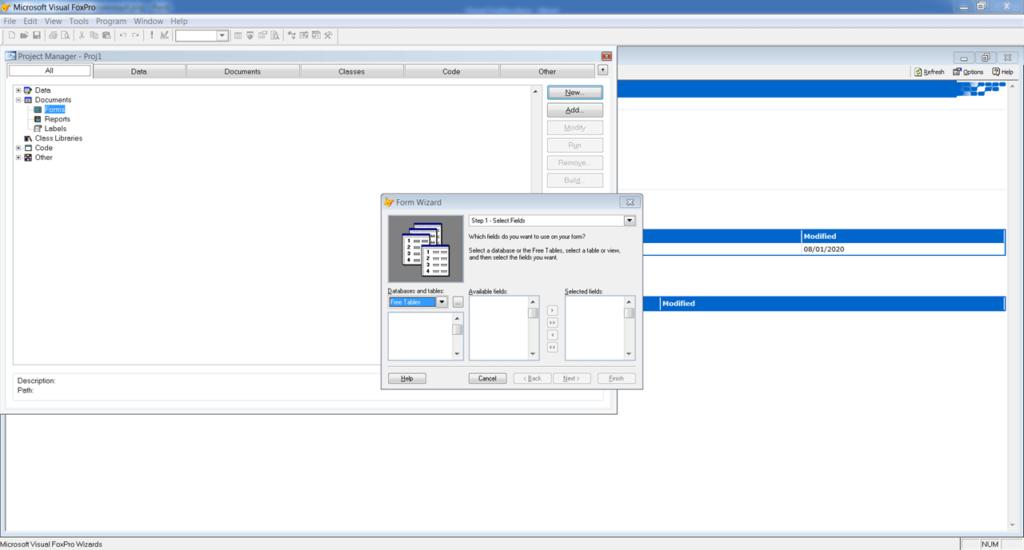 Visual FoxPro Проект