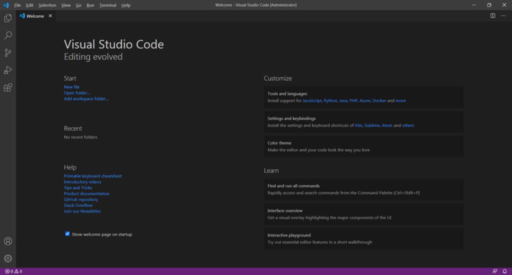 Visual Studio Code Начало работы