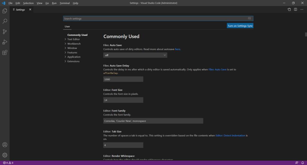 Visual Studio Code Настройки