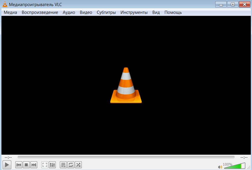 VLC Media Player Главное меню