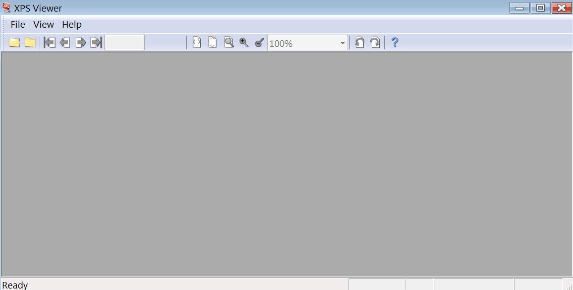 XPS Viewer Главное меню