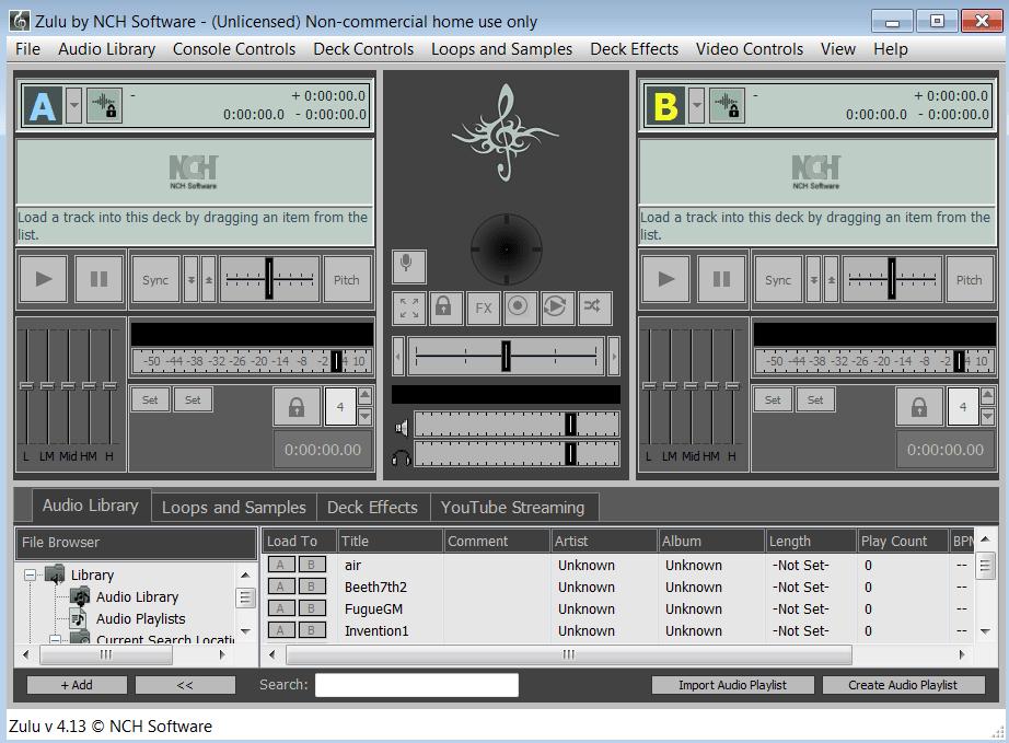 Zulu DJ Software Начало работы