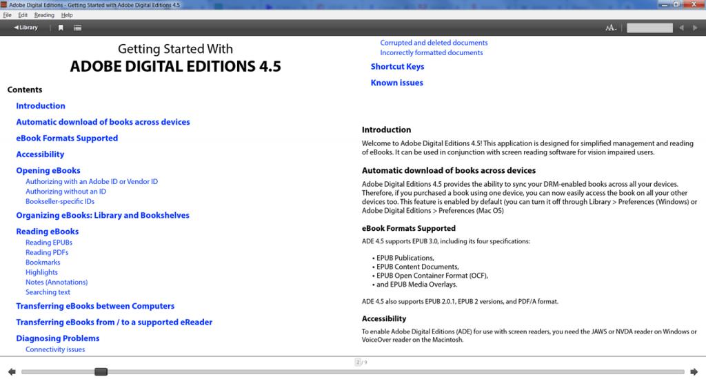 Adobe Digital Чтение
