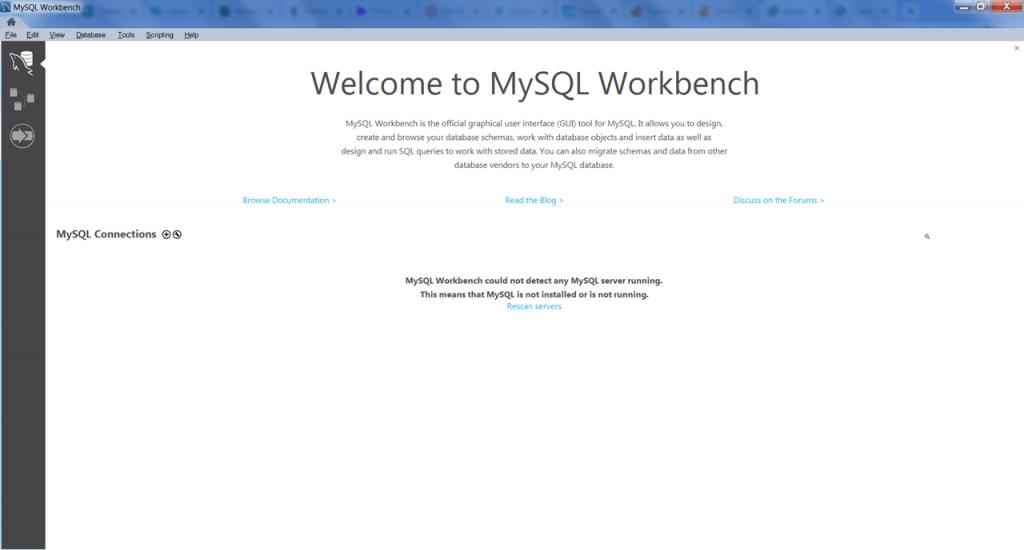 MySQL Workbench Главная