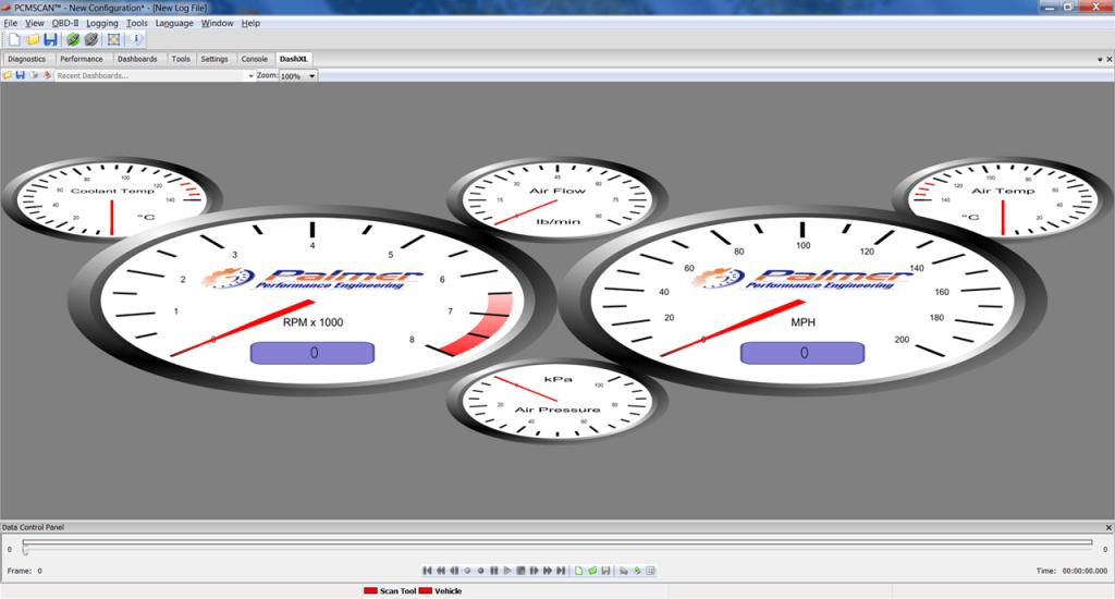 PCMScan Панель приборов