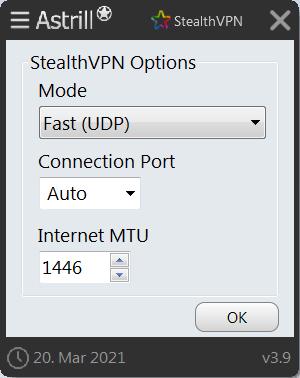 Astrill VPN Настройки