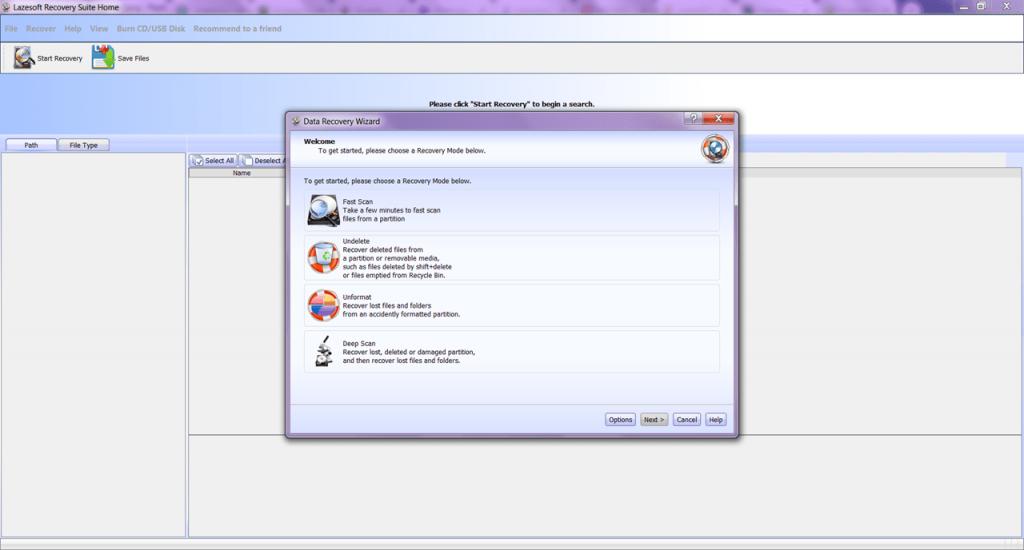Lazesoft Recovery Восстановление