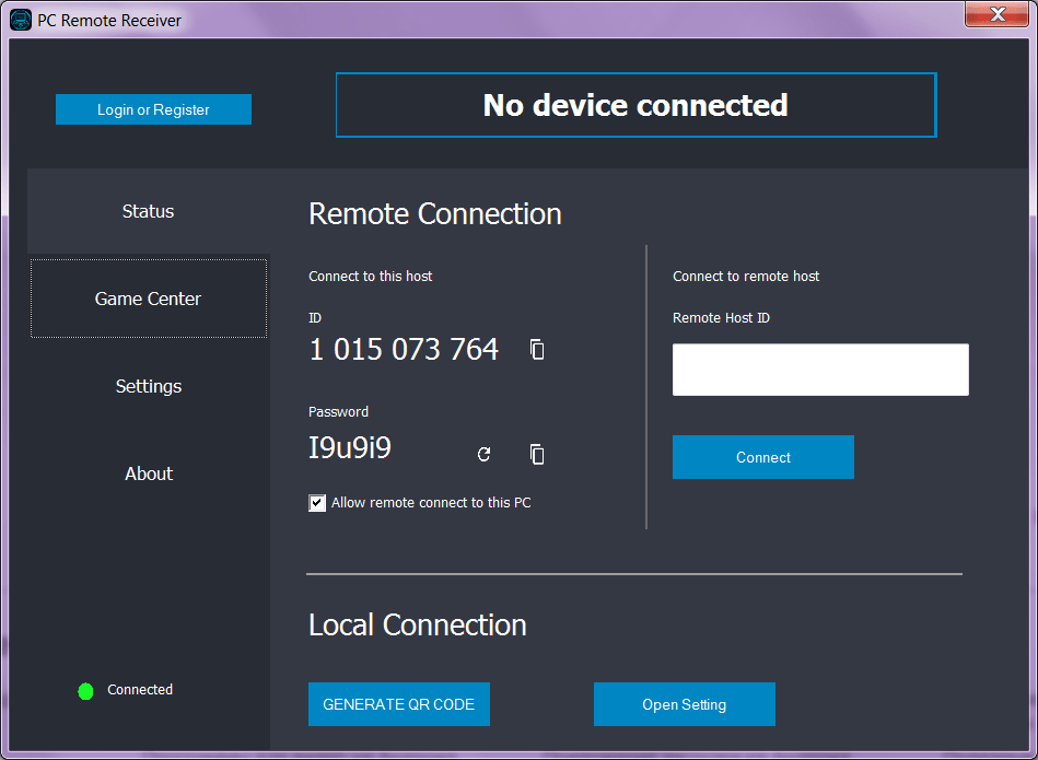 Monect PC Remote Подключение