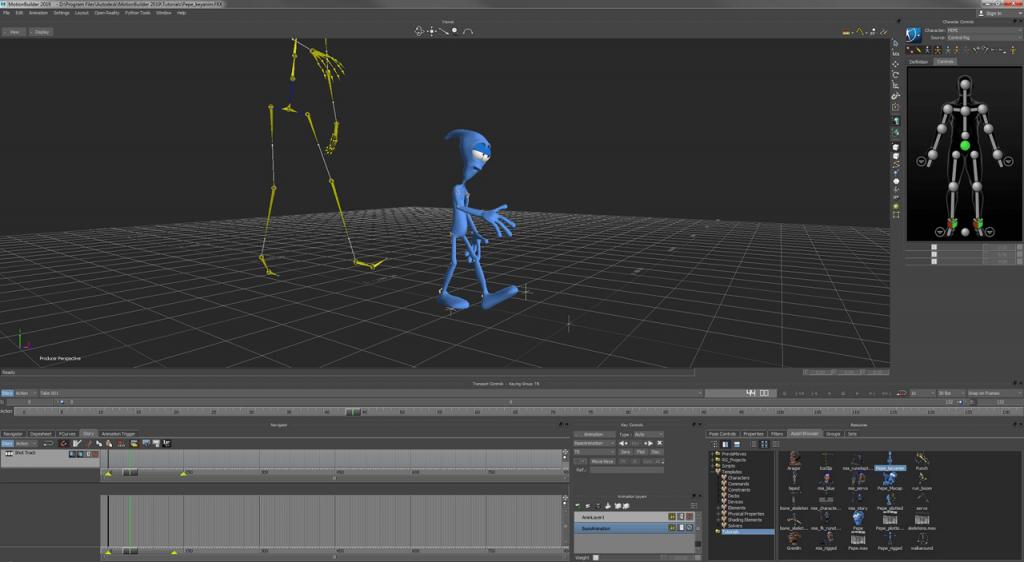 MotionBuilder Анимация
