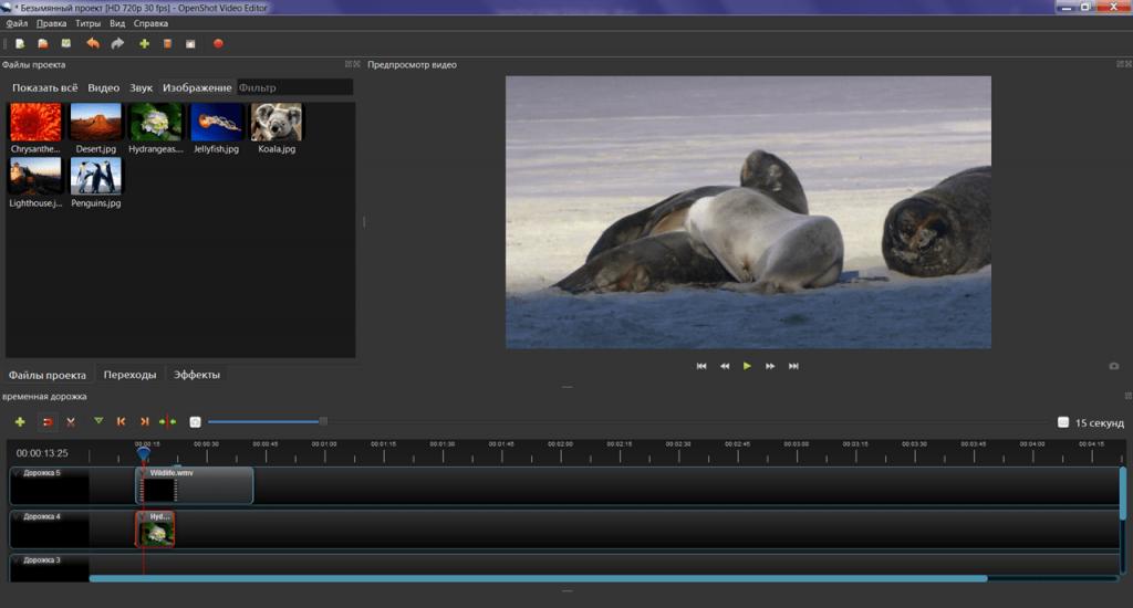 OpenShot Video Editor Проект