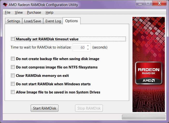 RAMDisk Опции