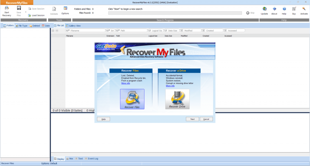 Recover My Files Главная