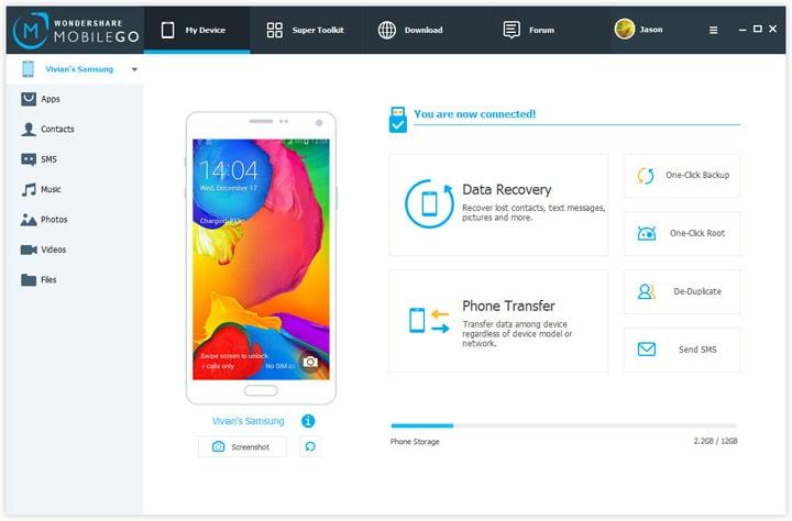 Wondershare MobileGo Устройство