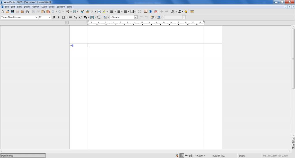WordPerfect Текстовый редактор