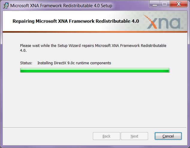XNA Framework Установка