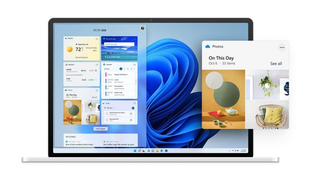 Windows 11 Виджеты